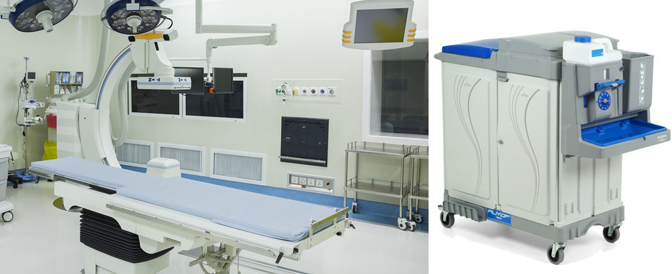 Self-contained Cleaning Systems for preparing operating suites